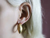 Hammered High 22 Kart Gold Earrings