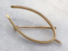 Vintage Gold Wishbone Brooch