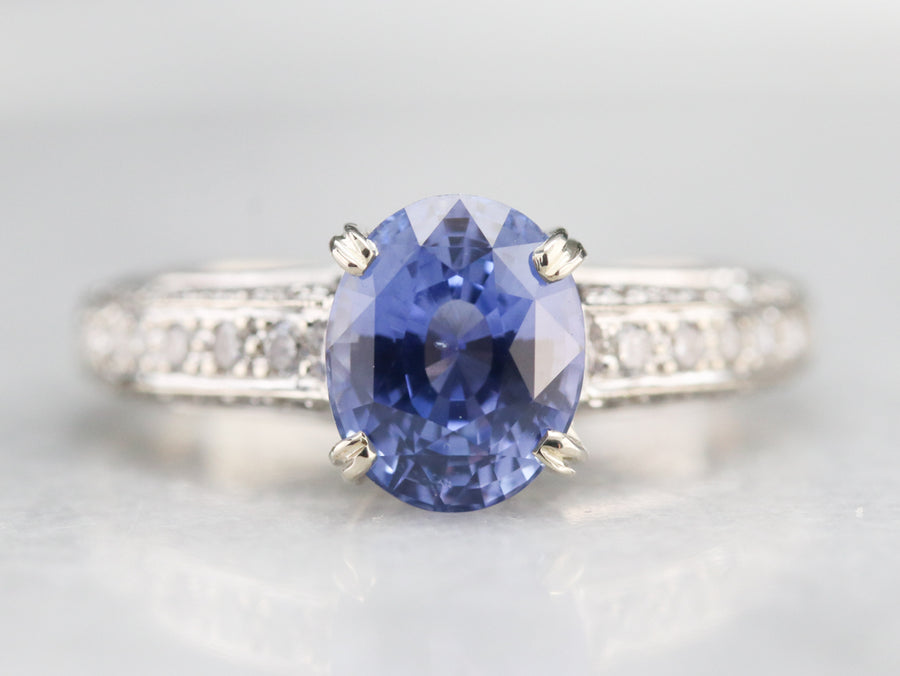 Ceylon Sapphire and Diamond Ring