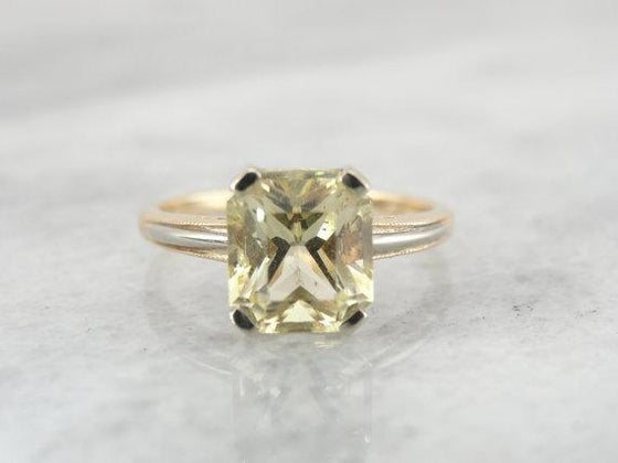 Rare Scapolite Gemstone and Fine Gold  Ring