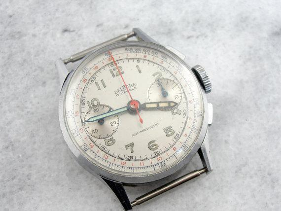 1950's Delbana Landeron Calibre 48 Gentlemans Wrist Watch