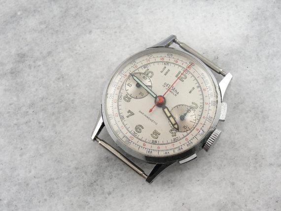 1950's Delbana Landeron Calibre 48 Men's Wrist Watch