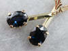 Yellow Gold Sapphire Drop Earrings