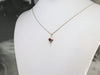 Mixed Metal Ruby Heart Drop Pendant