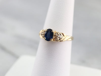Sapphire and Diamond Anniversary Ring