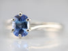 Cushion Cut Sapphire Solitaire Ring
