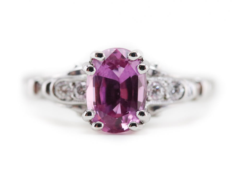 The Hathaway Pink Sapphire Ring by Elizabeth Henry