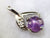 Purple Star Sapphire and Diamond Pendant