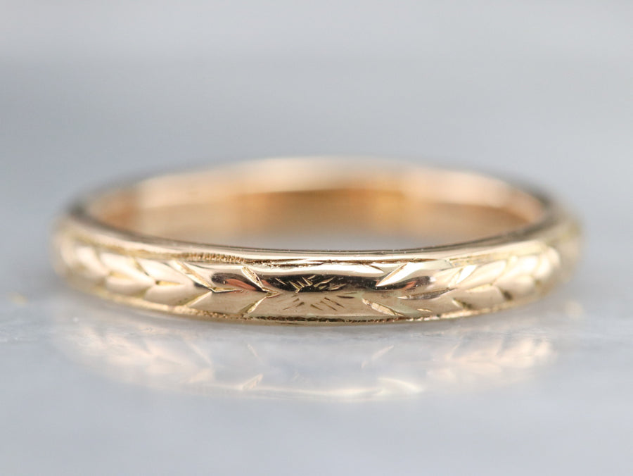 Vintage 1920s Wheat Pattern Band