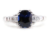The Hathaway Sapphire and Diamond Ring by Elizabeth Henry