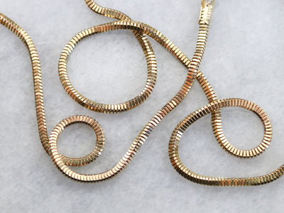 Vintage Gold Box Snake Chain