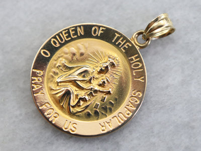 Queen of the Holy Scapular Medallion