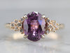Fine Purple Sapphire Diamond Engagement Ring