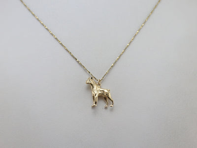 Yellow Gold Boxer Dog Charm