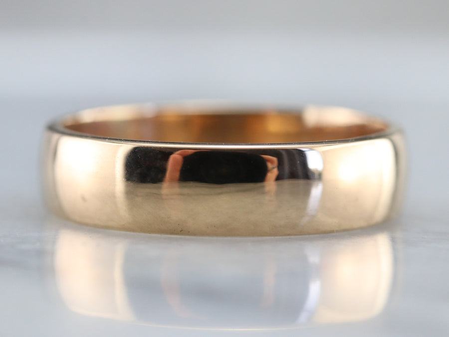 Antique 18K Gold Wedding Band