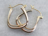 Mixed Metal Modernist Hoop Earrings