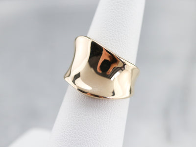 Modernist Yellow Gold Band