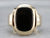 Retro Era Black Onyx and Gold Ring