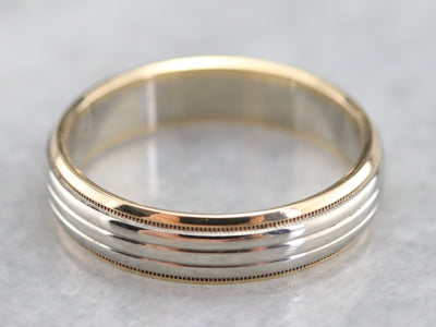 Vintage Two Toned Gold Band