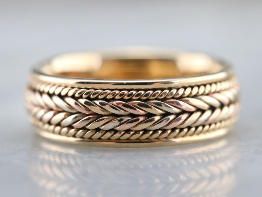 Bold Gold Vintage Braided Band