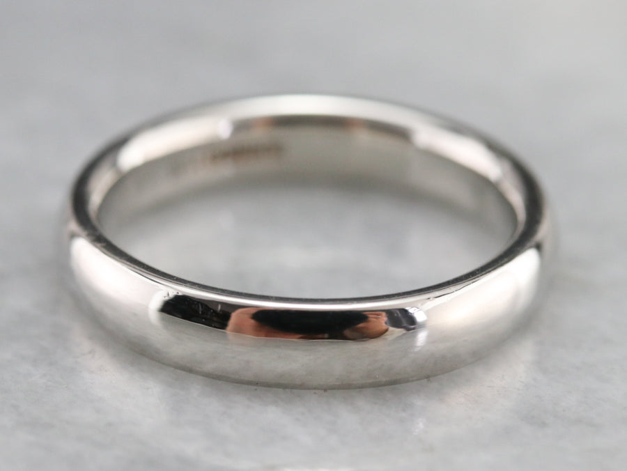Polished Platinum Wedding Band