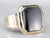 Retro Men's Black Onyx Statement Ring