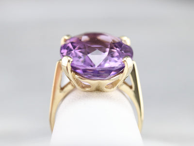 Gold Amethyst Cocktail Ring