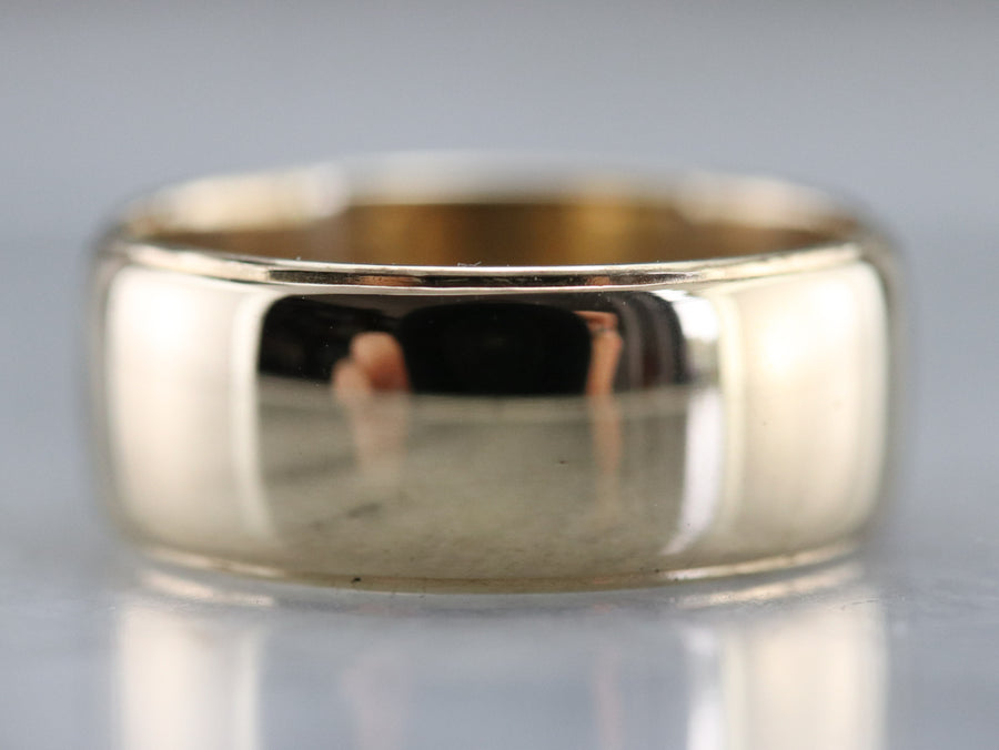Men's Art Carved Gold Band