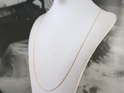 Long Yellow Gold Snake Chain