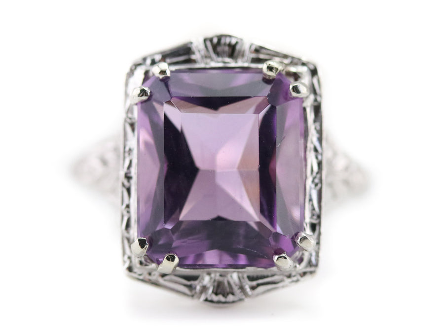 The Amethyst Art Deco Zelda Ring By Elizabeth Henry