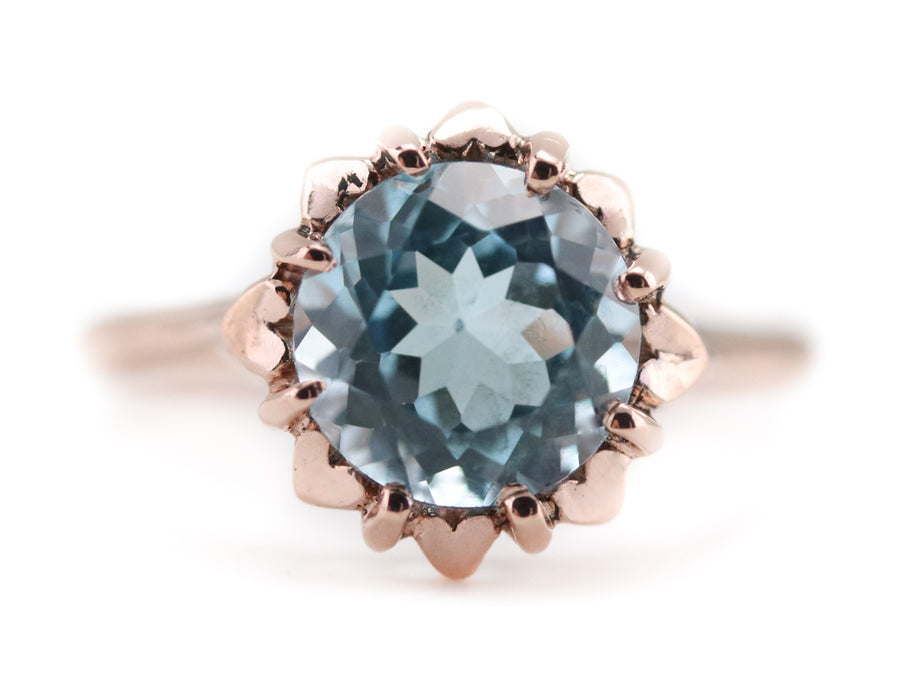The Eleanor Blue Topaz Solitaire Ring by Elizabeth Henry