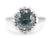 Solitaire Blue Zircon Eleanor Ring from The Elizabeth Henry Collection