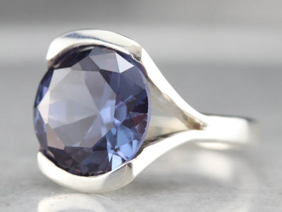 Synthetic Alexandrite Statement Ring