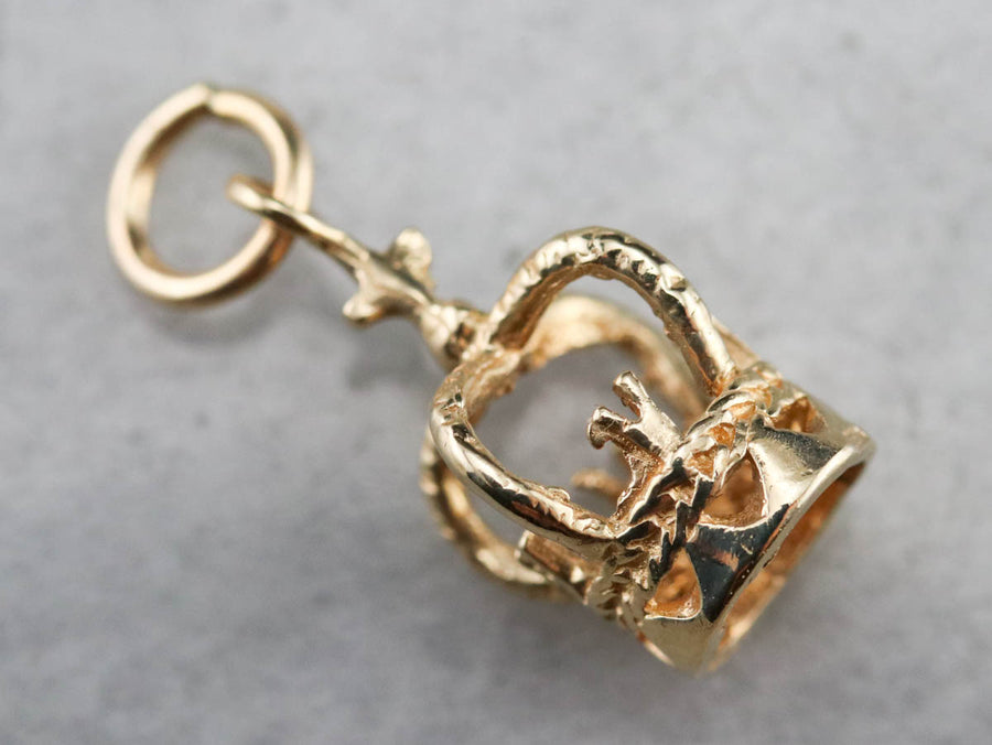 Vintage Gold Crown Charm