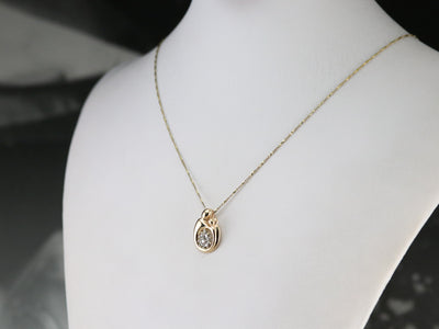 Gold Diamond Mother and Child Pendant