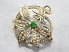 Art Nouveau Demantoid Garnet Brooch or Pendant