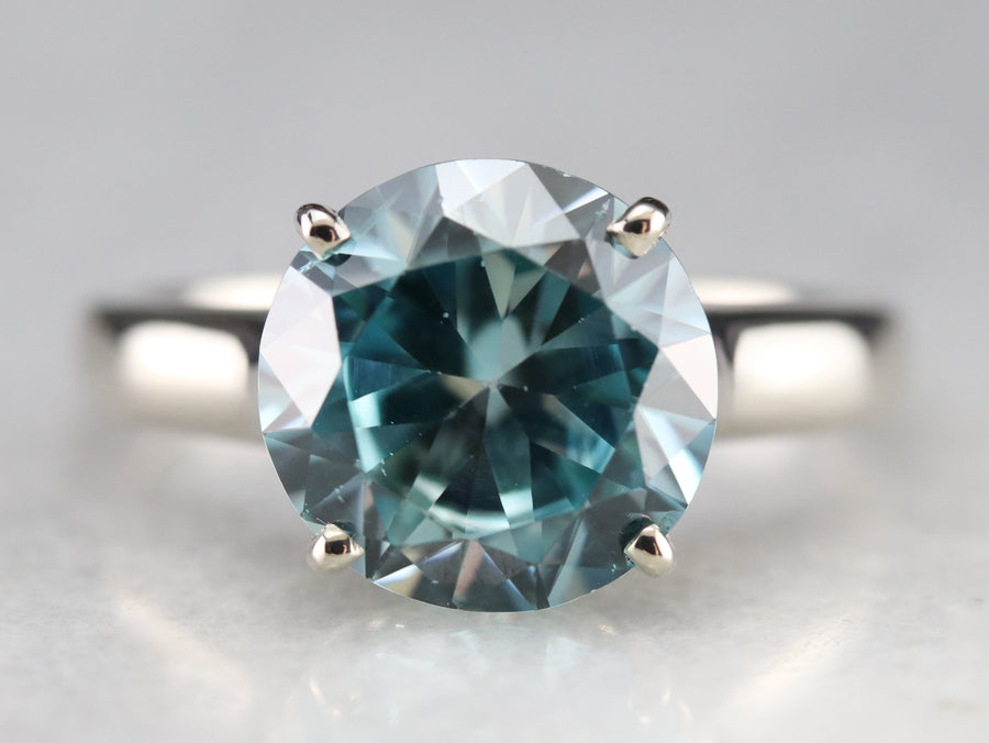 Blue Zircon Statement Ring