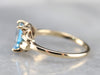 Retro Blue Topaz Solitaire Ring