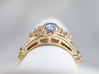Vintage Gold Sapphire and Diamond Ring