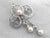 Retro Diamond and Pearl Brooch or Pendant
