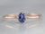 Sapphire Rose Gold Solitaire Ring