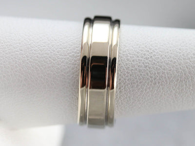 Vintage White Gold Band