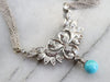 Italian Diamond and Turquoise Necklace