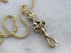 Antique Watch Chain Necklace with Hand Fob