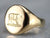 Vintage Gold Bear Signet Ring
