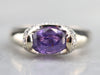 Purple Ceylon Sapphire and Diamond Ring