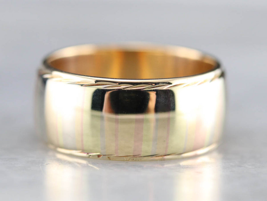 Mokume Multi Toned Band