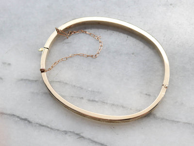 Antique Etched Gold Bangle Bracelet