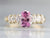 Pink Sapphire and Marquise Diamond Ring