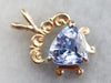 Sapphire and Yellow Gold Pendant